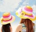 Вс Hat Мода Пляж Шляпа Родитель-ребенок Sunbonnet Большой Краев Strawhat Пляж Шляпа Солнца Летом Женский Солнцезащитный Крем Крышка