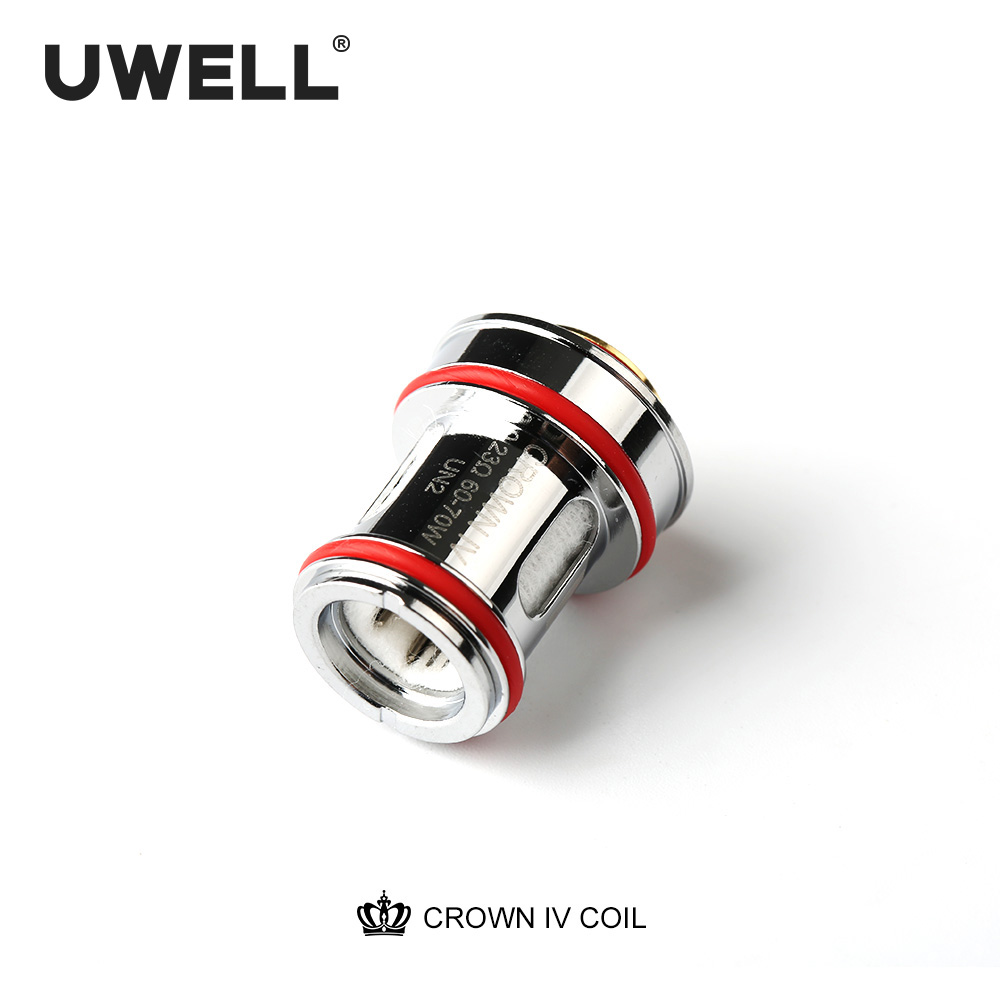 UWELL 4 PCS/Pack Crown 4 Replacement Coil Dual SS904L& Mesh UN2 Coil Head 0.2/0.23/0.4ohm for Crown 4 Electronic Cigarette Tank