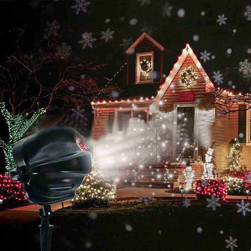 LED Snowflake Projector Light Waterproof Indoor Outdoor Night Lamp for Party Christmas Garden ALI88 цена 2017
