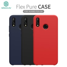 Huawei P20 Lite Case NILLKIN Flex Pure CASE For Huawei Nova 3e Slim Soft Liquid Silicone Rubber Shockproof Back Cover Phone Case
