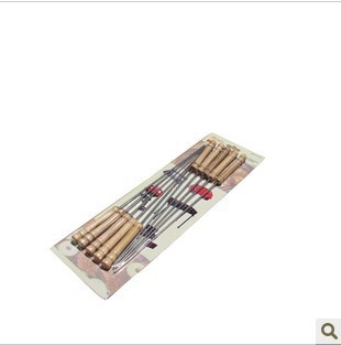 Stainless steel barbecue needle barbecue fork grill needle chicken wings needle chicken prod lengthen bbq sign 10 bag