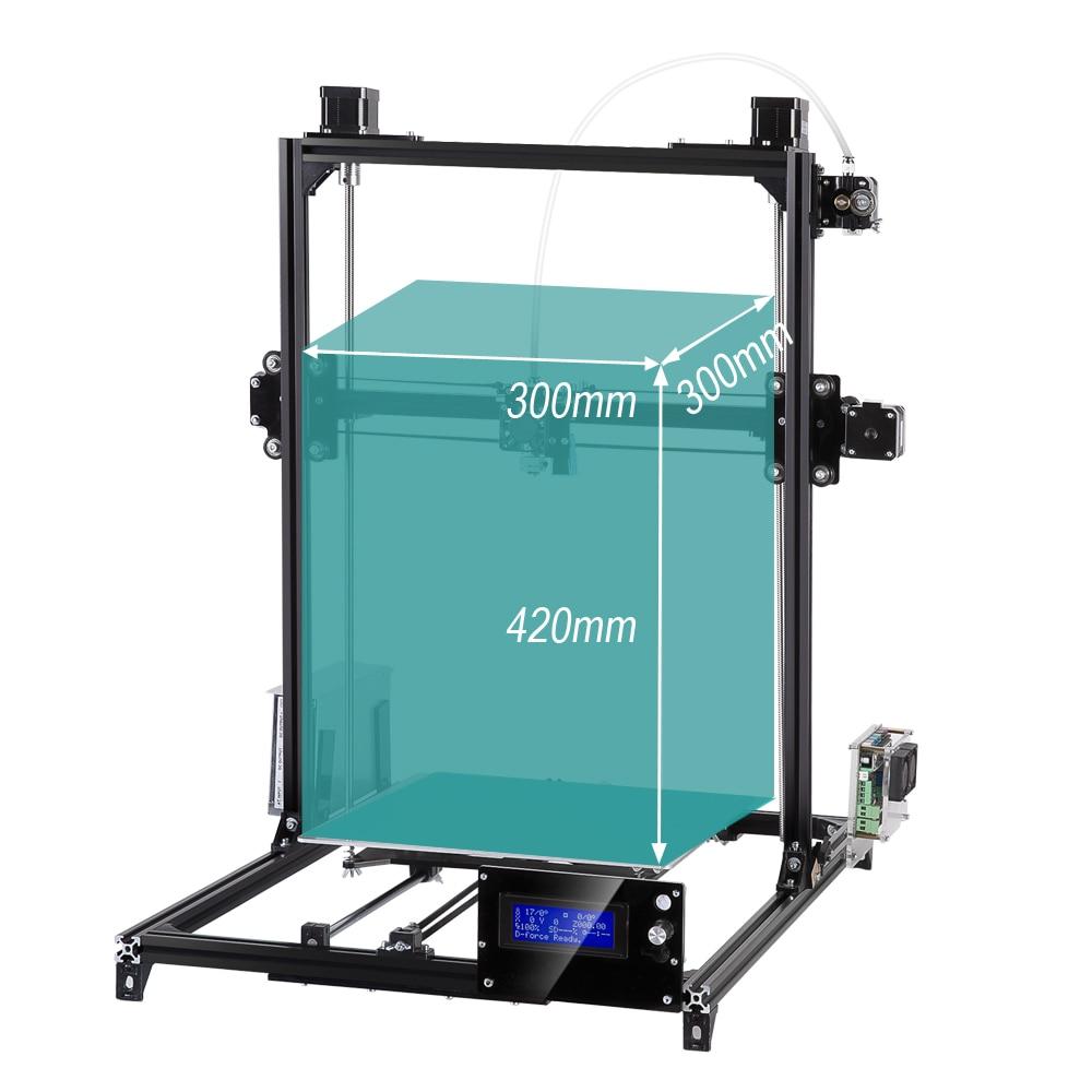 Flsun Plus Taille 3D Imprimante 300*300*420mm Full Metal Cadre Haute Précision DIY 3D Imprimante Kit auto Nivellement Avec Chauffée Lit
