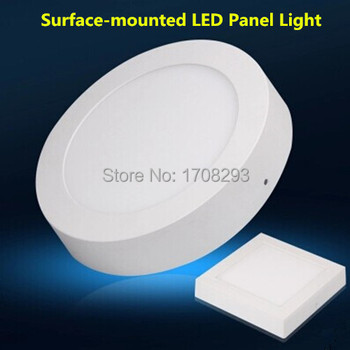 10pcs/lot 6W 12W 18W Round LED surface mounted light  high lumens Dimmable downlight  AC110v 220v 230v CE ROHS