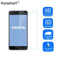 Konsmart 9H 0.3MM Screen Protector For Samsung Galaxy A3 2016 Tempered Glass Guard Film Front Case Cover +Clean Kits 10PCS