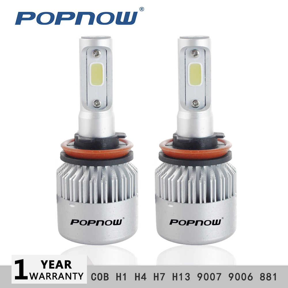 H4 LED 2PCs S2 H7  Bulb Car Headlight H11 H1 H13 H3 H27 9005/HB3 9006/HB4 9007 Hi-Lo Beam 72W 8000LM Auto Headlamp LEDs