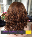 tone color full lace wigs hot sale 18 inches Chinese hair #2 ombre #4 wigs F752 tone color wigs custom order big curl