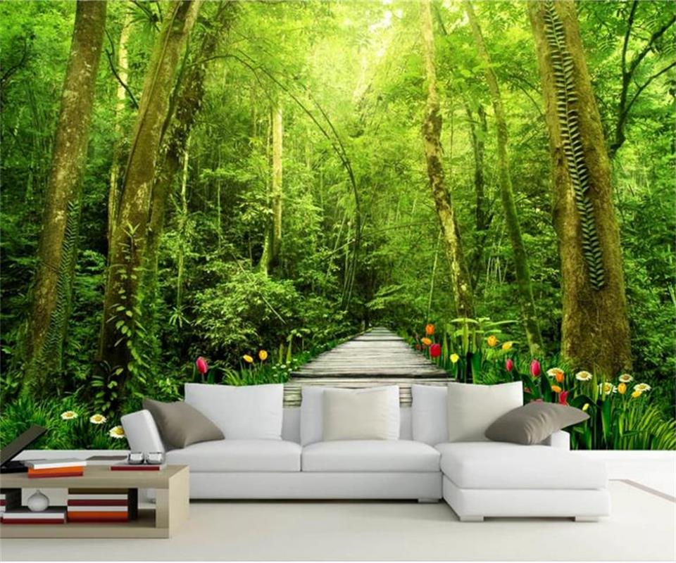 3d photo wallpaper custom living room mural wood bridge nature forest photo picture background wall mural wallpaper for wall 3d custom 3d photo wallpaper children room bedroom cartoon forest house background decoration painting wall mural papel de parede