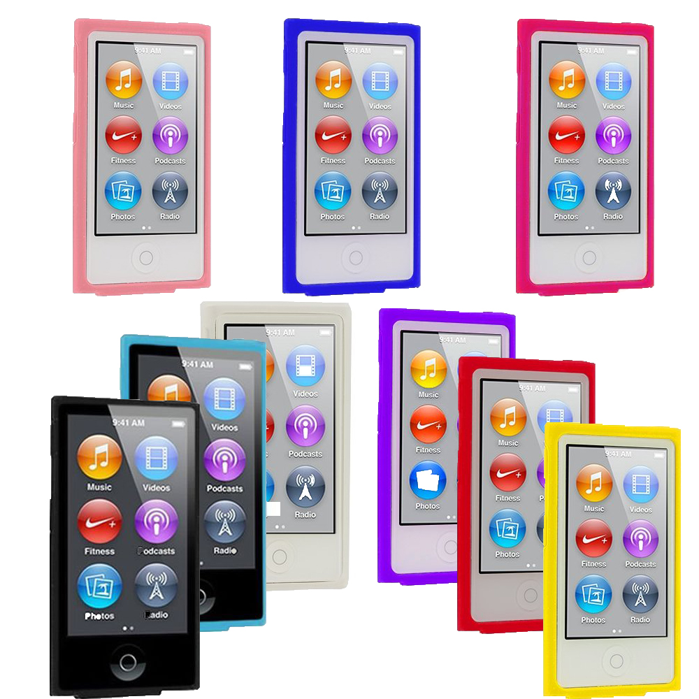 Case for Apple iPod Nano 7 cover 7th 8th Generation Case Silicone Soft Rubber Gel Skin Cases Covers