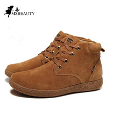 men shoes 100% Genuine Leather men Boots Classic Men's Winter Snow Boots Outdoor Work shoes Rubber Men Warm boots