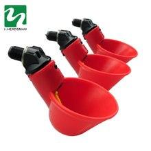 Bebedor automático de codornas, tigela água de galinha com mamilos amarelos, fazenda, aves, sistema de água potável