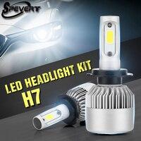 SPEVERT 72W 20000LM H7 H4 LED Bulb Car Lights Headlight Lamp Kit Replace HID Xenon Auto