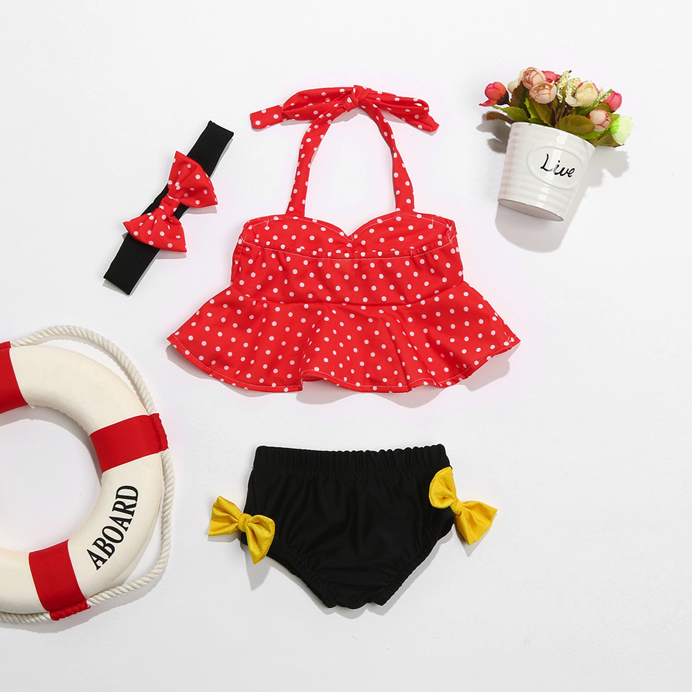 ARLONEET Baby Girl Swimwear Girl Straps Dot Swimwear Two Piece Swimsuit Bikini Set Outfit Girl 0 to 2 Years Drop Shipping 30S516
