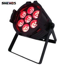 ФОТО /lot Aluminum oy LED Par 7x18W RGBWAUV Stage Lights No Noise  With DMX512 Master Slave Sound activated for DJ Party