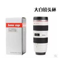 550 ml עדשת גביע נירוסטה כוס בידוד תרמי קומקום בקבוק תרמוס צלוחיות ואקום Cerative המצלמה SLR משלוח חינם