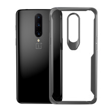 For Oneplus 7 Case Oneplus 7 Pro Cases Soft Silicone Frame + Transparency Acrylic Hard Back Cover For Oneplus7 Clear Capa