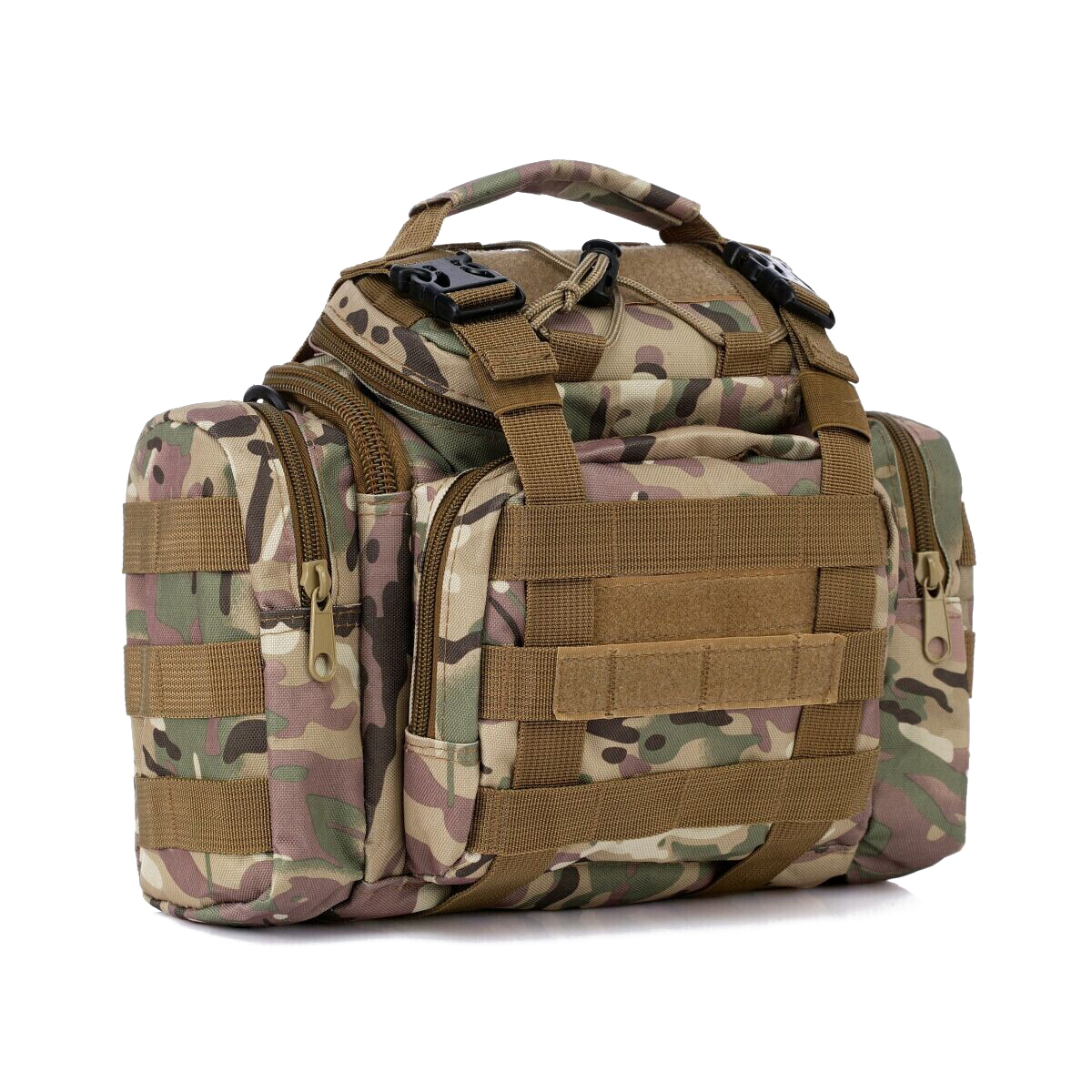 Sea/Carp/Fly Fishing Tackle Bag Waterproof Storage Waist Shoulder Carry Case CP camouflage
