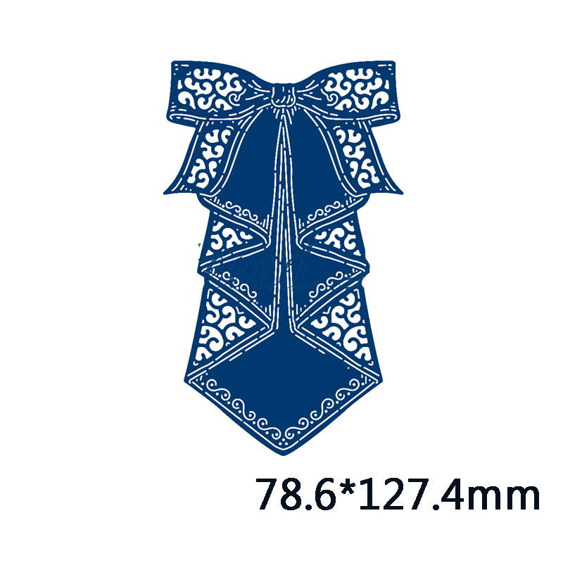 Big Waterfall Bow Metal Cutting Dies for DIY Scrapbooking Embossing Wedding Paper Cards Making Crafts Supplies 2019 New Dies in Cutting Dies from Home Garden
