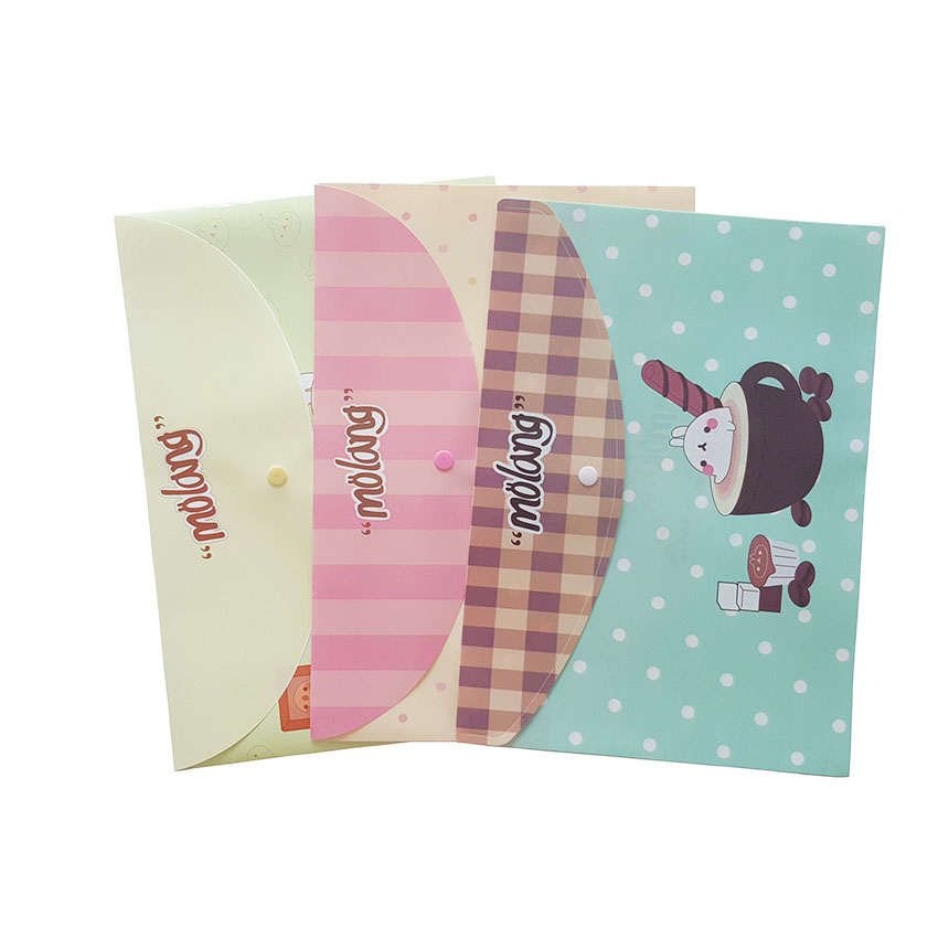 24pcs/lot New Arrival Fashion  Cute Potato Rabbit Series File Bag PVC Waterproof Filebag.DIY School Supplies Wholesale