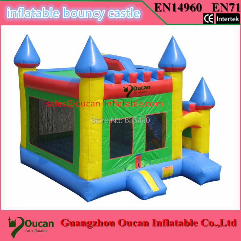 5X4X4m PVC tarpaulin inflatable bounce house with small slide
