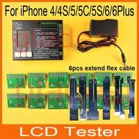 2016 mais recente lcd testador para iphone 4 4s 5 5c 5s 6 6 s Mais Toque Repair Digitador Da Tela Máquina Separadora Conjunto Kit de Ferramentas