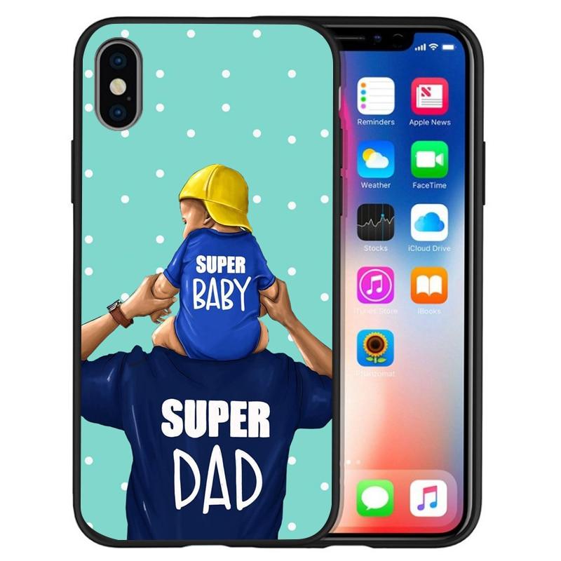 Супер I Love Mama мышь папа мама мальчик детский чехол для чехла iphone 8 7 X XS Max XR 6 7 8 плюс 5S SE мягкий чехол Etui
