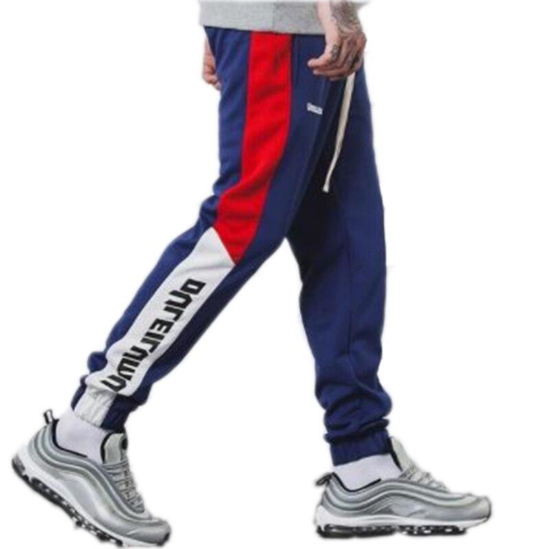 Zogaa 2018 New Autumn Mens Sweatswear Pants Printing Side Stripe Pockets Men Vintage Sweatpants Autumn Fashion Color Block Pants