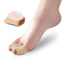 1pair Big Toe Separator Silicone Gel Bunion Corrector Thumb