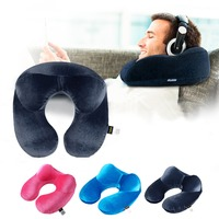 U Shape Neck Pillow Travel Accessories Inflatable Neck Pillow Travel Pillow Sleep Tools Portable Outdoor Camping