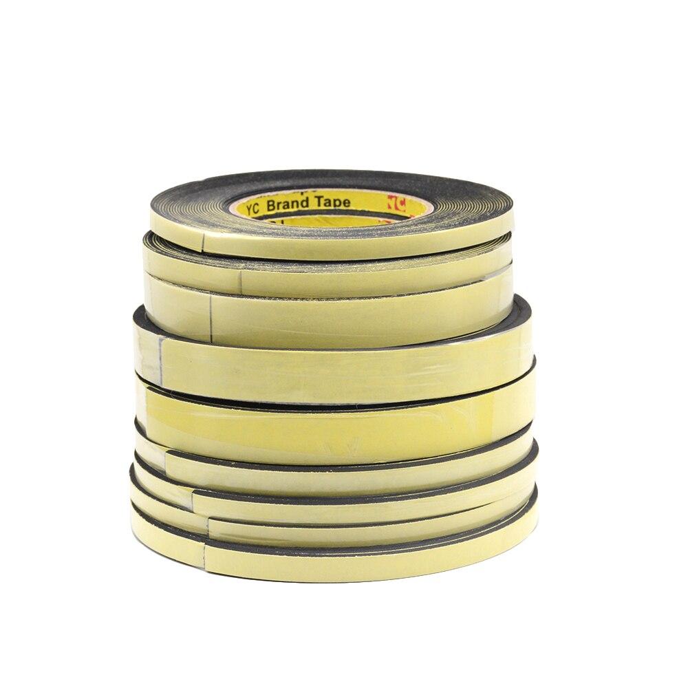 Image 4 - 5m*10mm*2mm/3mm Single Sided Adhesive Waterproof Weather Stripping Foam Sponge Rubber Strip Tape 10M *1mm Window Door Seal StripSealing Strips   -