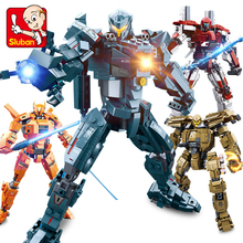 Movie Pacific Rim Jaeger Gipsy Danger and Battle Damage Action Figures Legoes Building Blocks Bricks Model Toy