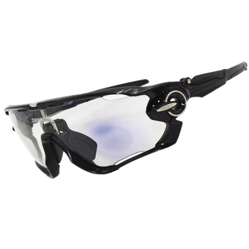Auto Photochromic Sunglasses Sports Cycling Discoloration Glasses Men MTB Mountain Bike Bicycle Finshing 4 Lens Eyewear Goggles