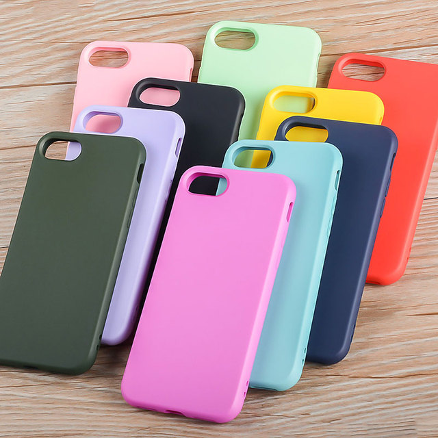 Silicone case for iPhone 8 Plus 7 Plus soft TPU material