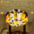 New Ceiling fan Crystal Chandelier Pumpkin shape 10/12CM LED Ceiling Lamps Light Fixtures lustres de sala Led Lighting Walkway