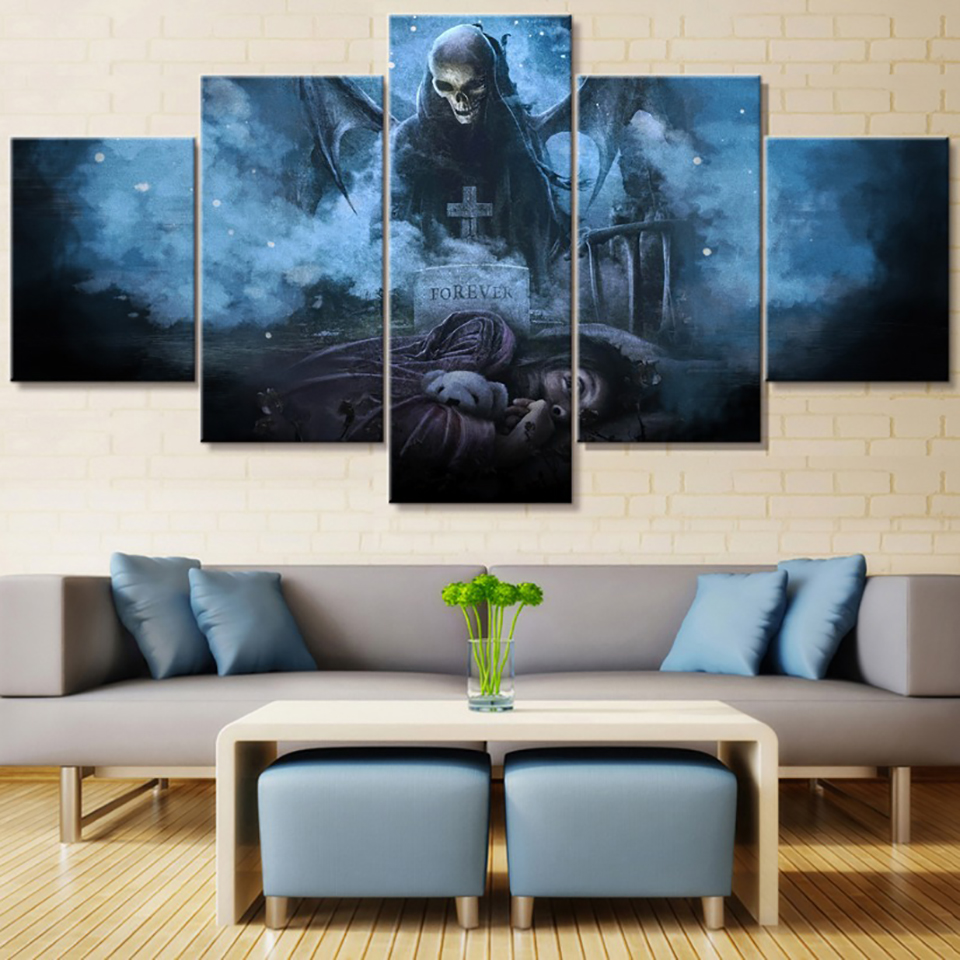 Wall Art Pictures Canvas For Living Room Home Decor 5 Piece Avenged Sevenfold Painting HD Printed Movie Game Poster Frame in Painting Calligraphy from Home Garden