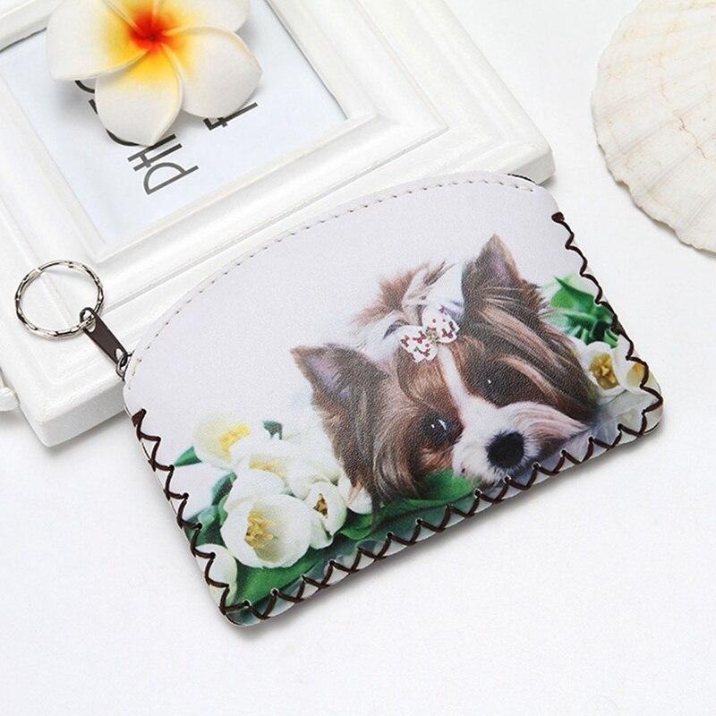 Owl Cat Horse Coin Purse Change Purse Card Holder Handmade Hem Wallet Purse Women Clutch Zipper Coin Bag Pouch