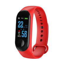 M3 Plus Smart Bracelet Color Screen IP67 Fitness Tracker Blood Pressure Heart Rate Monitor Smart Band for Android IOS Phone M3S