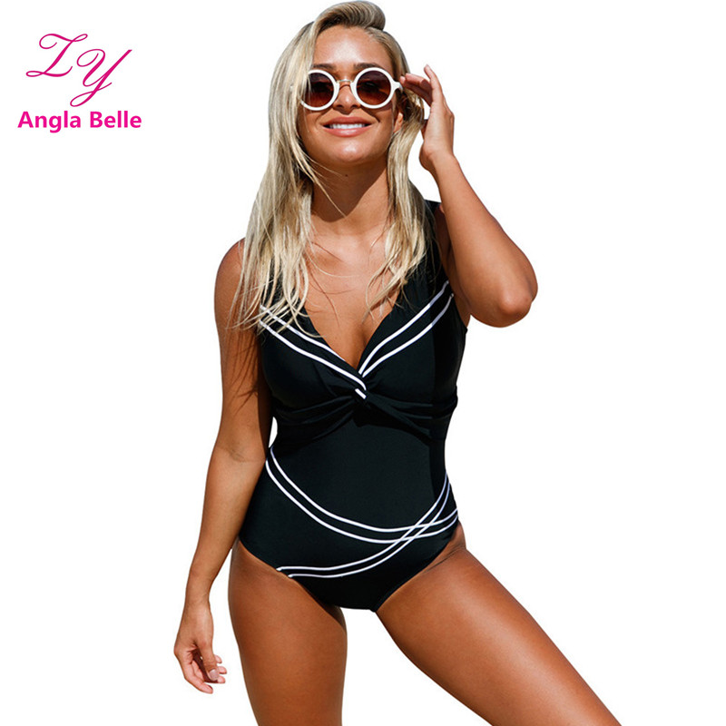 Bandage One Piece Swimsuit Women Swimwear Sexy Bodysuit High Waist Swim Wear Summer Female Swimming Suit V Neck Bathing Suit