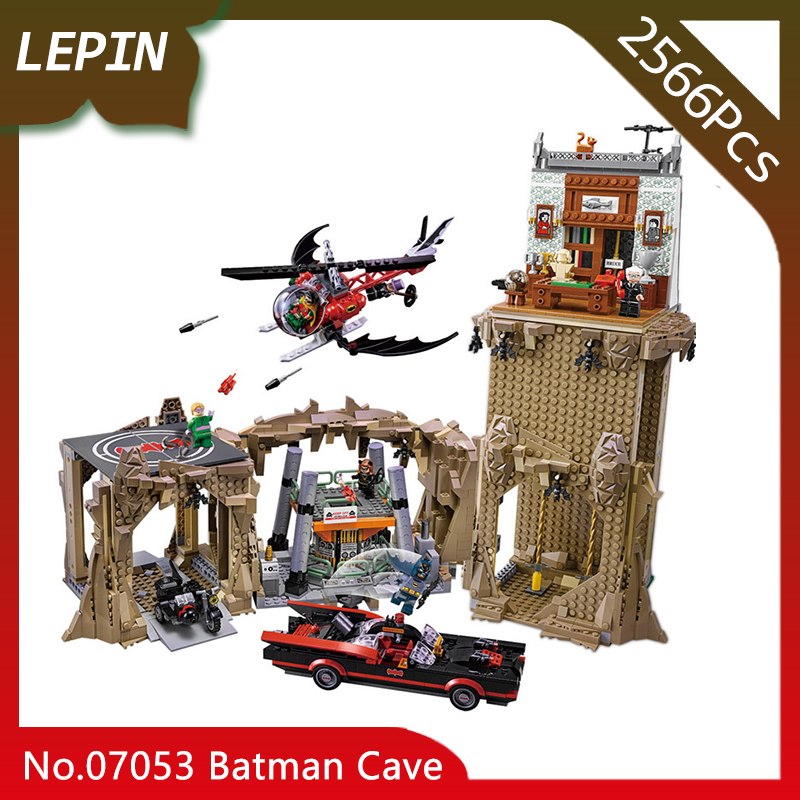 Lepin 07053 Batman Cave Model Super Heros Series 2566pcs Building Bricks Blocks Educational Toys For Children gifts 76052