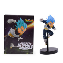 Anime Dragon Ball Z Super Ultimate Soldiers Movie Vegeta Broly Figurine PVC Action Figure Collectible Model Toy Doll wholesale anime dragon ball z super saiyan vegeta battle state final flash pvc action figure collectible model toy 17cm