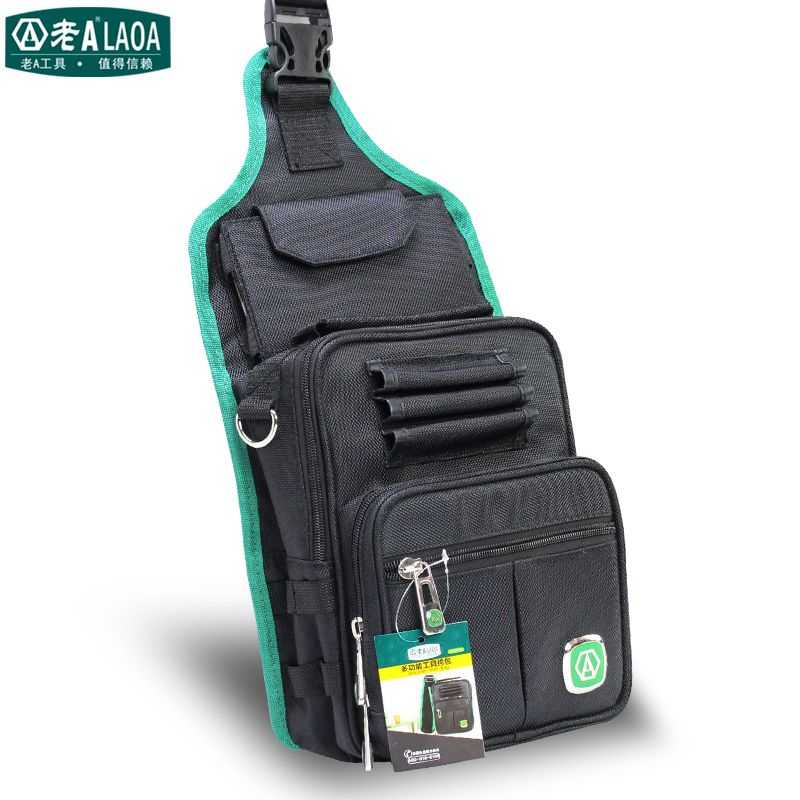 LAOA Multifunción Messenger Bag Cross Body Electrician Hardware Mechanic's Canvas Tool Bags For Store Tools