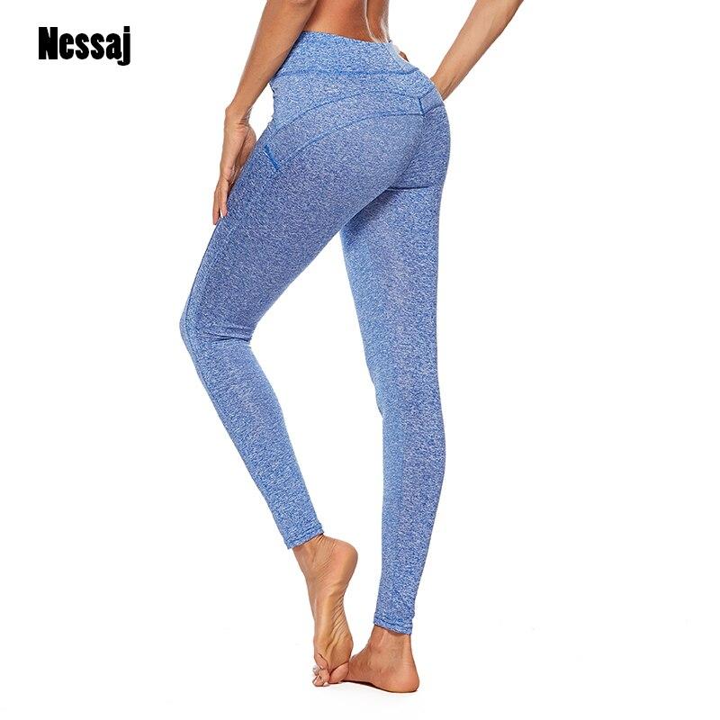 Nessaj Women Workout Leggings Push Up Fitness Legging Femme Patchwork Pants Long Trousers Mujer Solid Sexy Hip Women Leggings