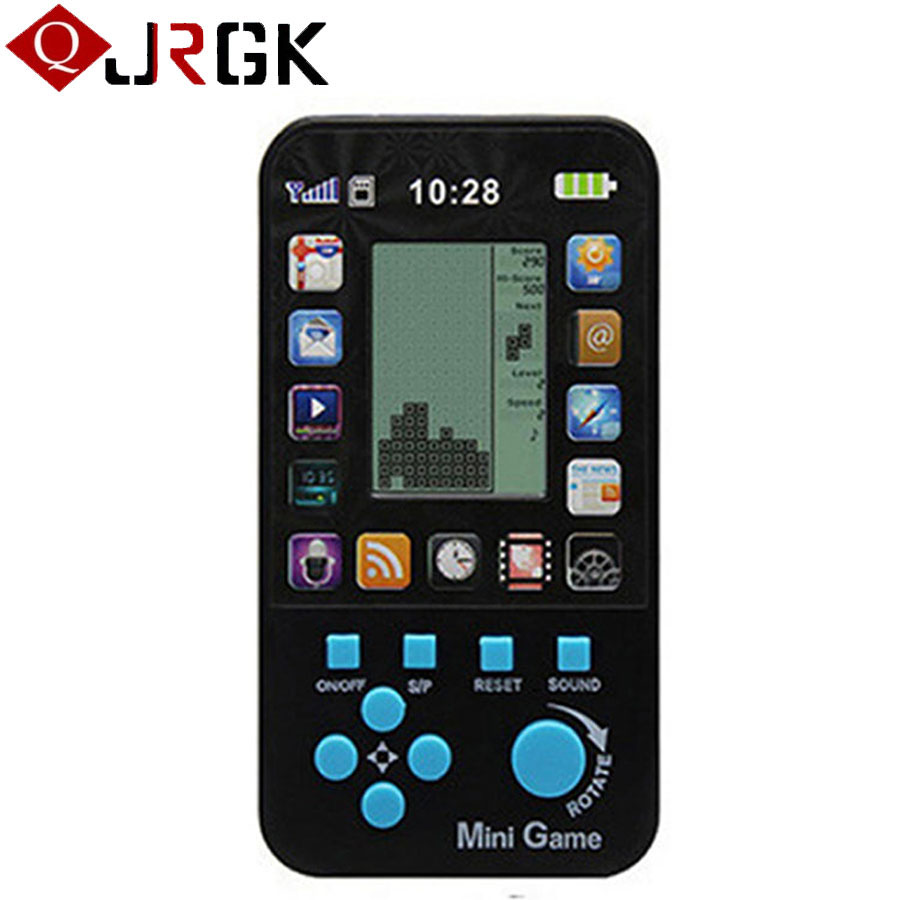 JRGK Classic Tetris Game Console Portable Mini Childhood Handheld Game Players Children Kid Intelligence Toys Game Consoles