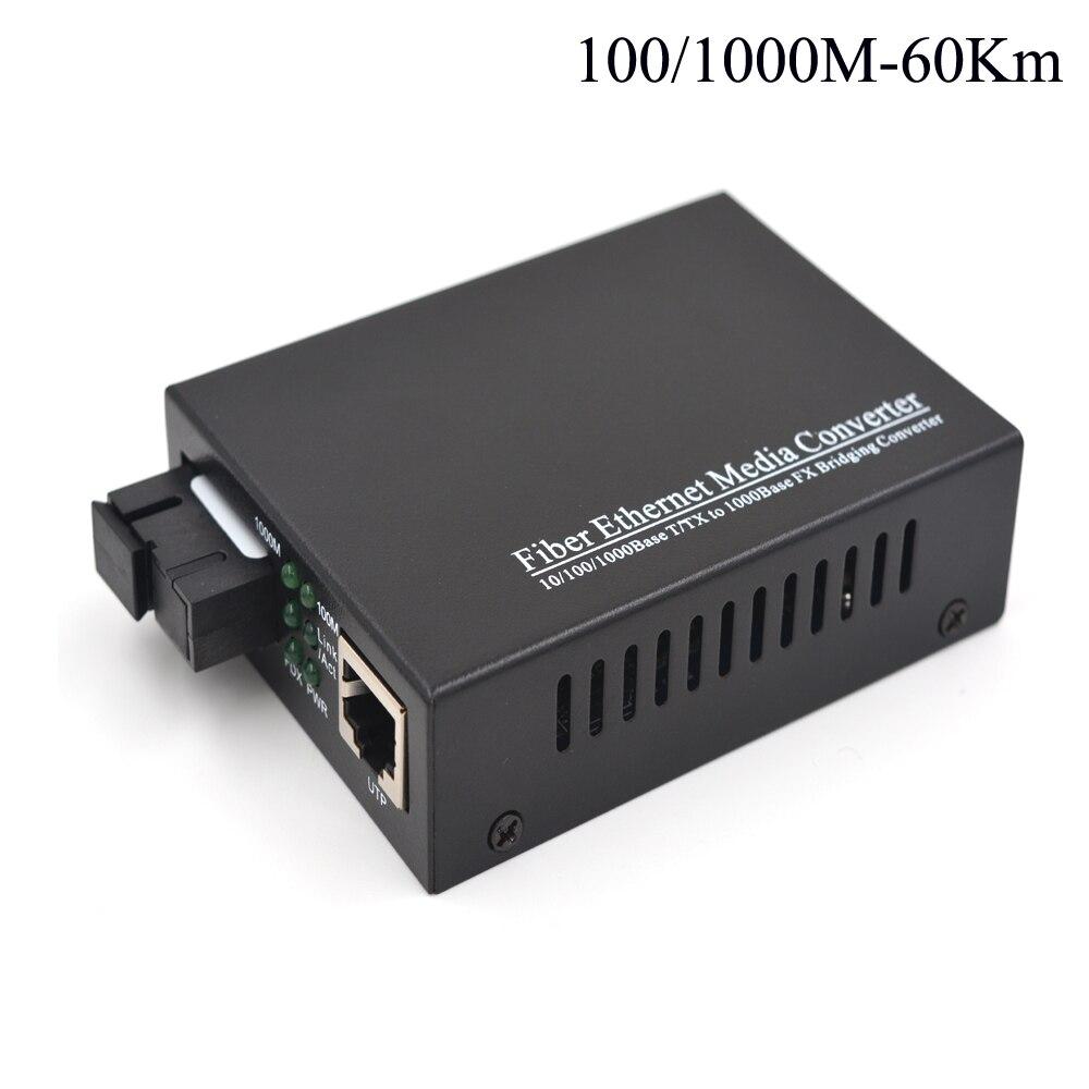 60Km Gigabit Optical Media Convertes 10/100/1000Mbps Ethernet to Fiber optic transceivers For CCTV Security System - Singlemode 60Km Gigabit Optical Media Convertes 10/100/1000Mbps Ethernet to Fiber optic transceivers For CCTV Security System - Singlemode