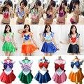 Hot Sailor Moon Trajes de Cosplay Mujeres Niñas Sexy Corsés del Entrenamiento de Lolita Cosplay Sailor Moon Faldas Niñas Uniforme Escolar 86