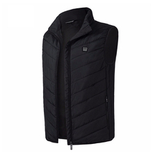 Fashion Outdoor Winter Vest Men Electric Heated Jacket USB Heating Vest Outerwear Male Camping Warm Sleeveless Vest Dropshipping