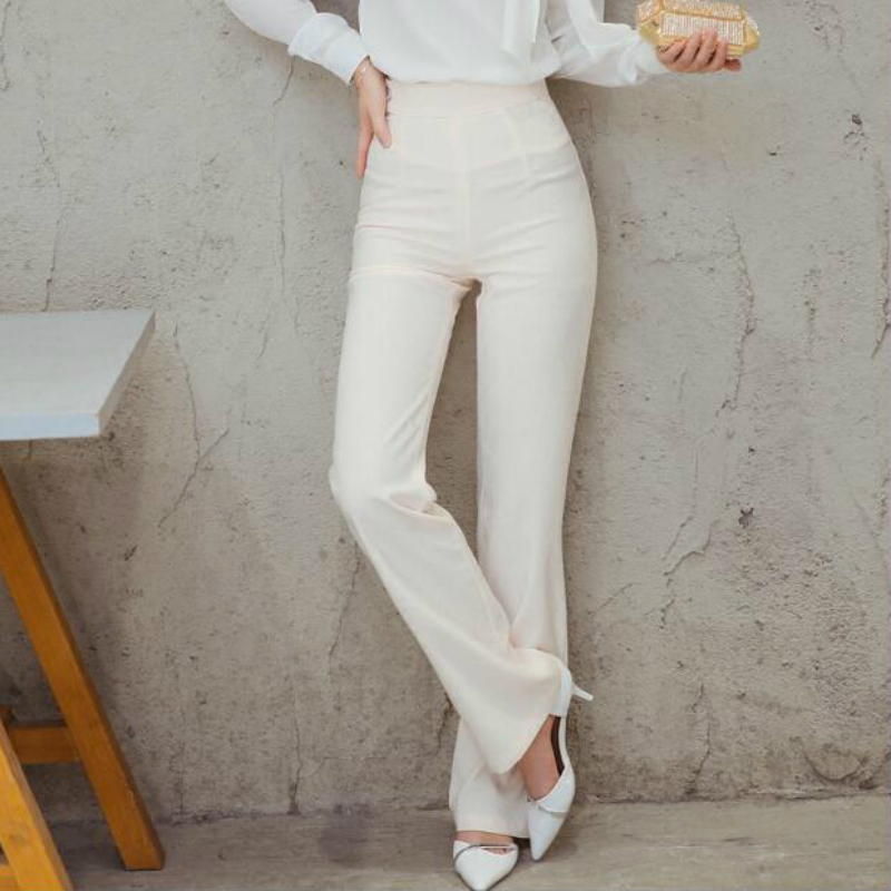 2019 new spring and autumn Fashion casual high waist tall female women girls straight pants trousers