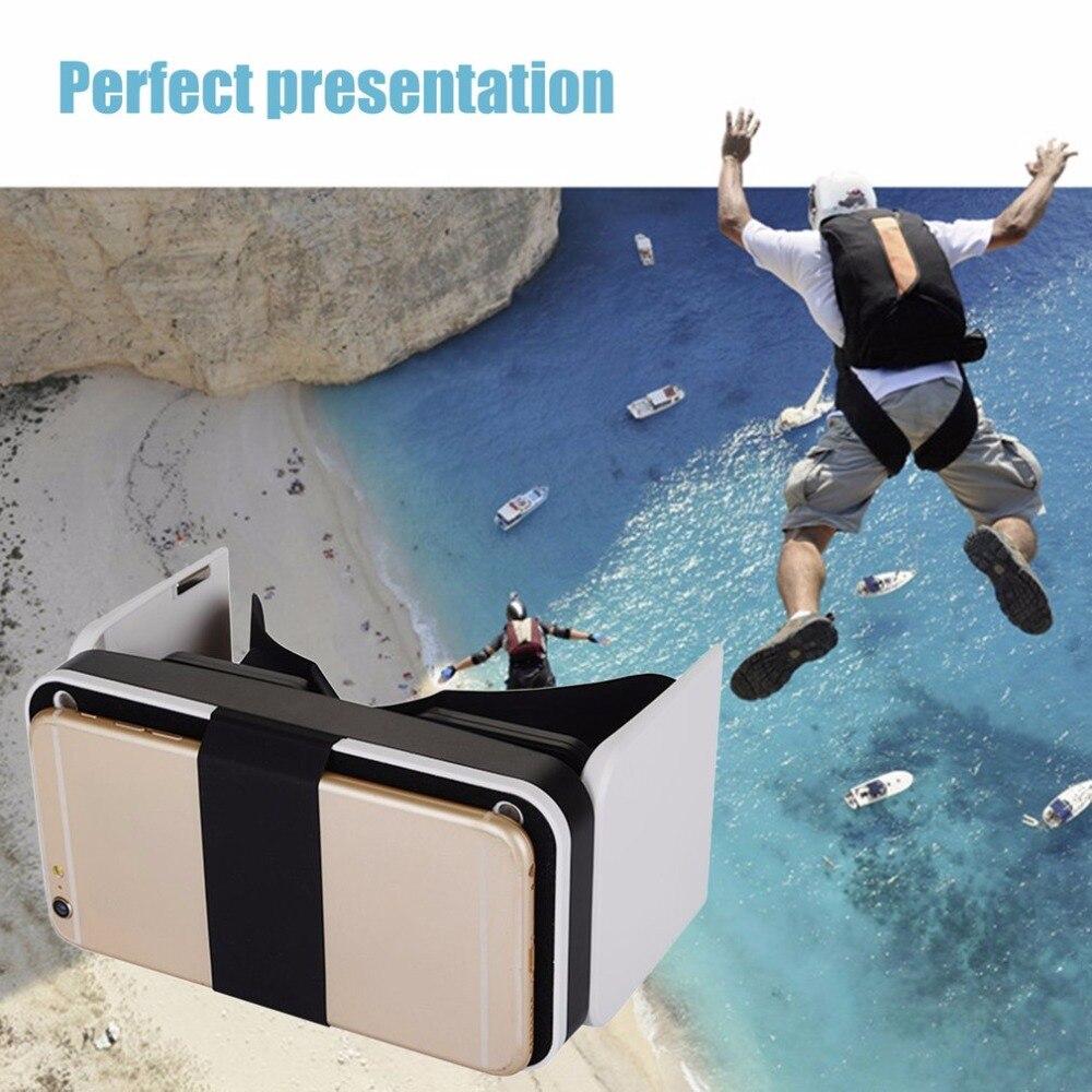 Mini Portable 3D Virtual Reality Foldable VR Glasses Headset Eye Protecting Stereo VR Box for 4.7-6