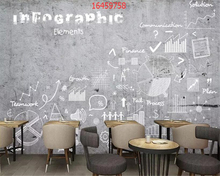 beibehang Customized modern minimalist vintage hand drawn letters cement wallpaper coffee shop western restaurant background