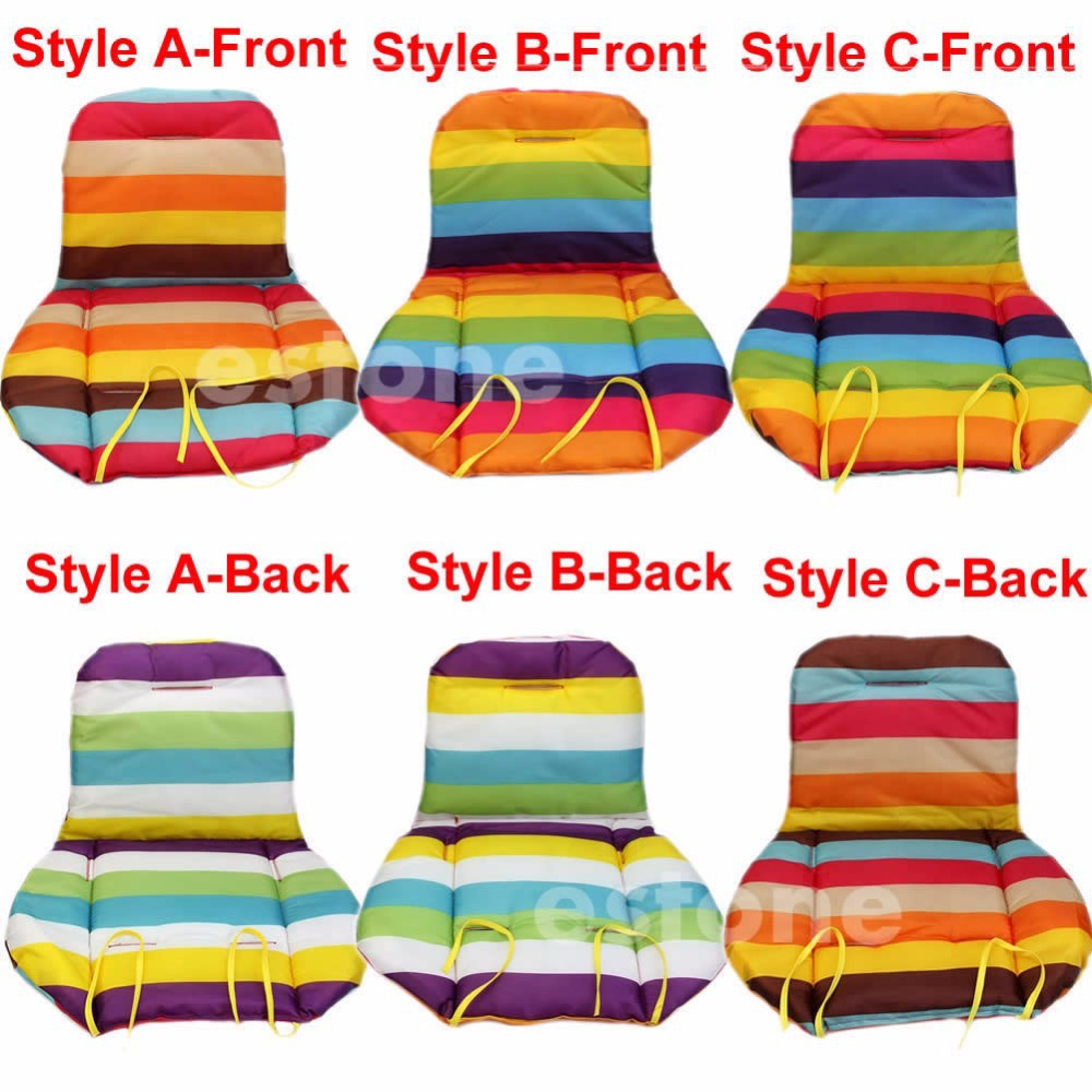 NEW Baby Stroller Cushion Pad Pram Padding Liner Car Seat Pad Rainbow Waterproof in Cushion from Home Garden