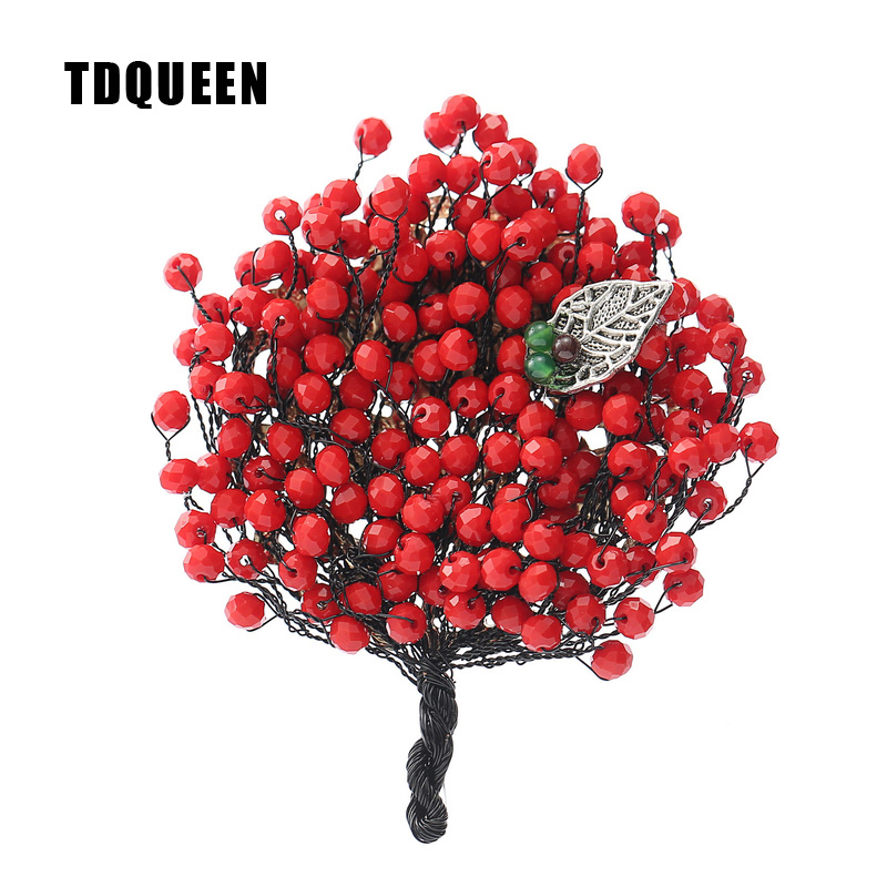 Luxury Red Crystal Bead Brooches for Women Antique Silver Plated Metal Brooch Pin Jewelry Vintage Pins and Brooches ethnic antique silver color leaf brooches pin